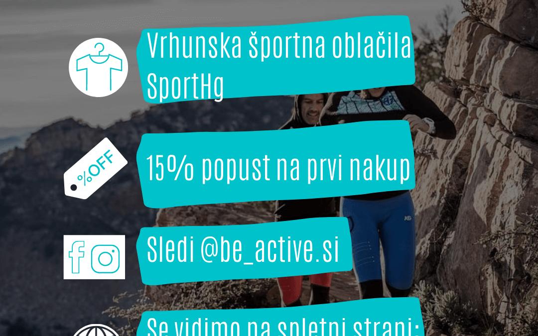 Be Active – Nova spletna trgovina z oblačili Sport HG