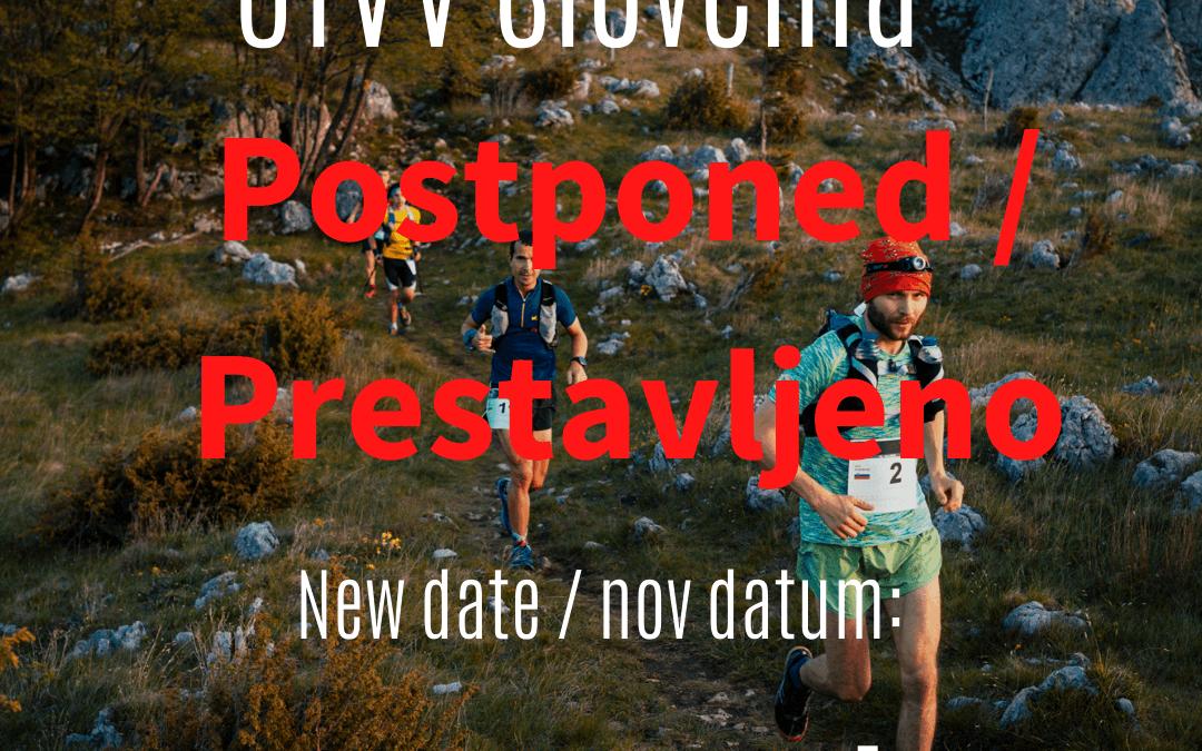 UTVV Slovenia Postponed